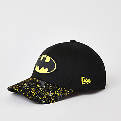 Boys New Era black Batman hat