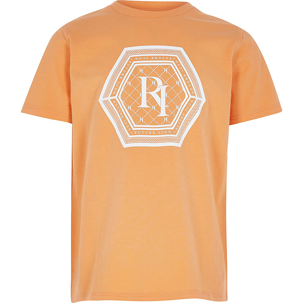 Boys orange 'future icon' T-shirt