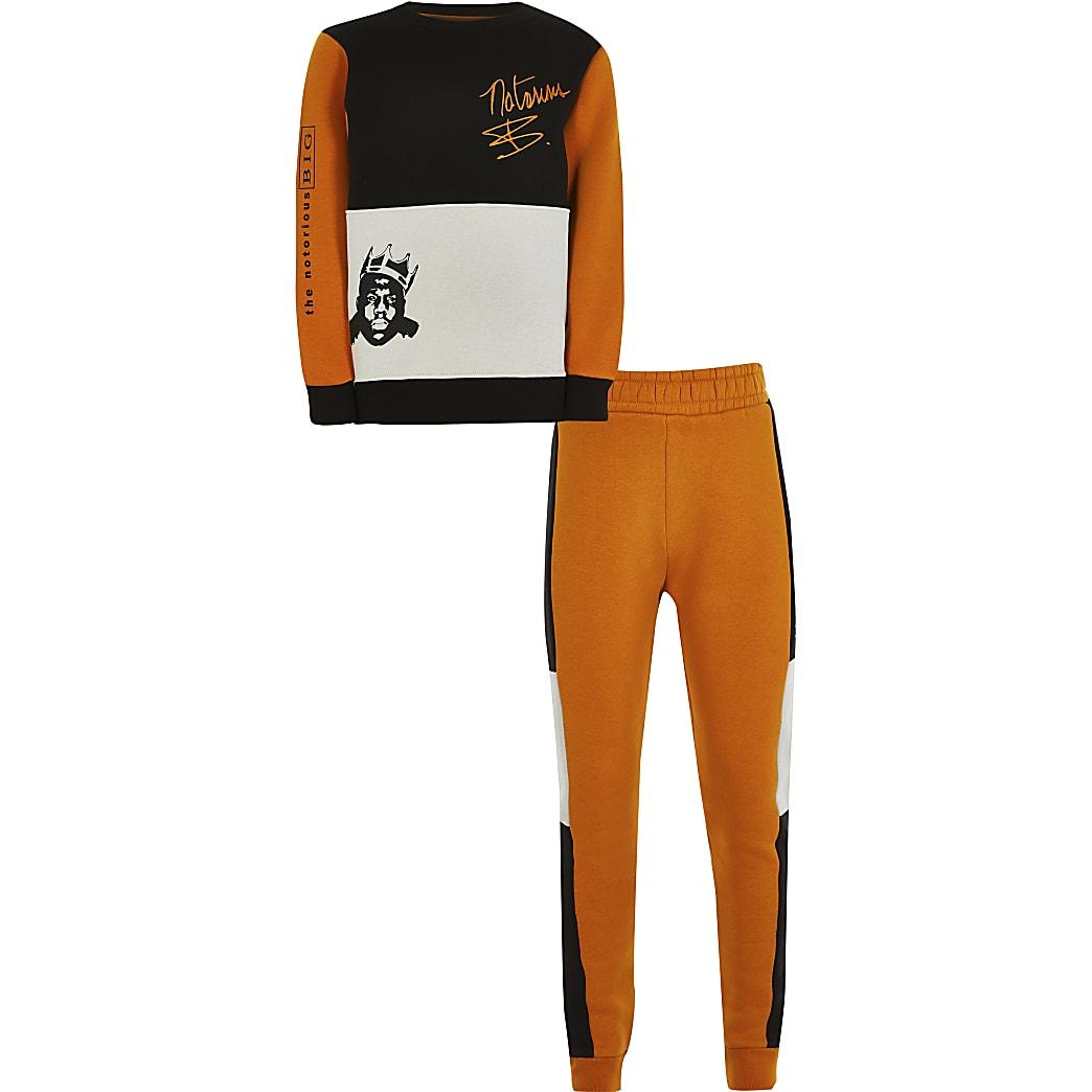 Boys orange 'Notorious B.I.G' tracksuit