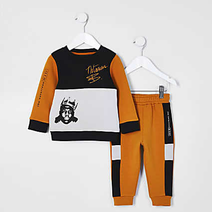 Boys orange 'Notorious B.I.G.' tracksuit
