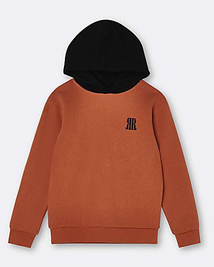 Boys orange RR hoodie