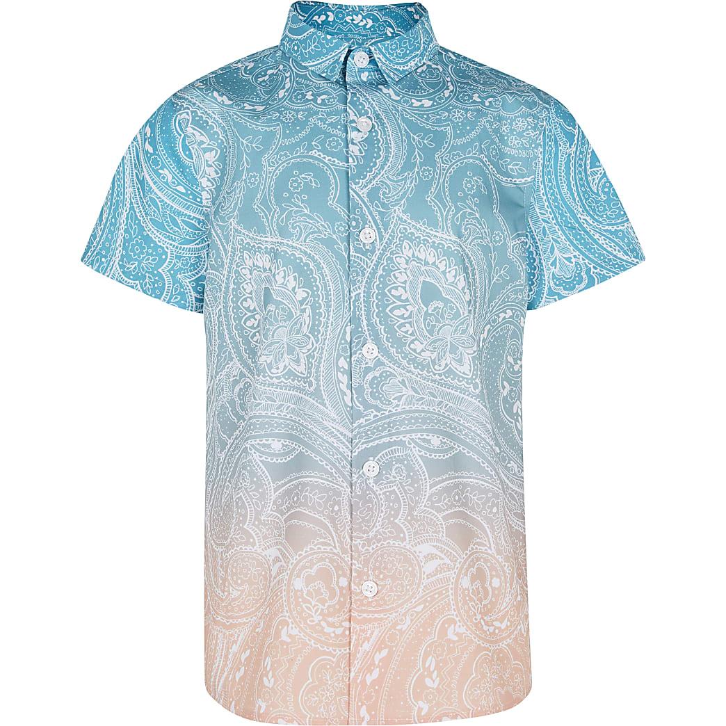 Boys paisley ombre shirt