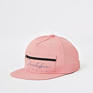 Prolific – Flache Kappe in Rosa mit Reißverschluss