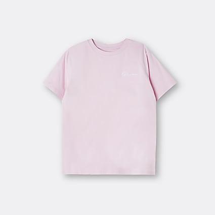 Boys pink River t-shirt