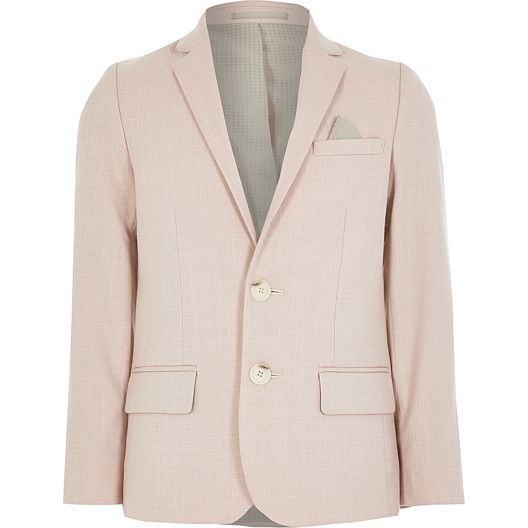 Boys pink single breasted blazer