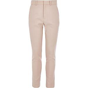 Roze slim-fit pantalon voor jongens