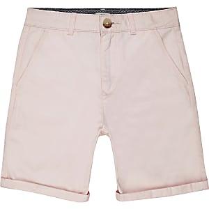 Roze nette chinoshort voor jongens