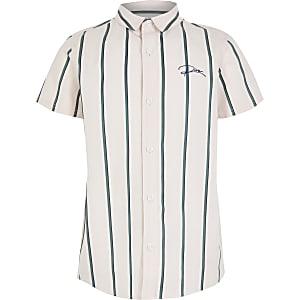 Boys pink stripe 'River' shirt