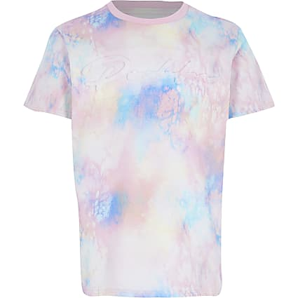 Boys pink tie dye prolific t-shirt