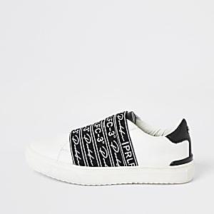 Prolific – Weiße Sneaker mit Riemen