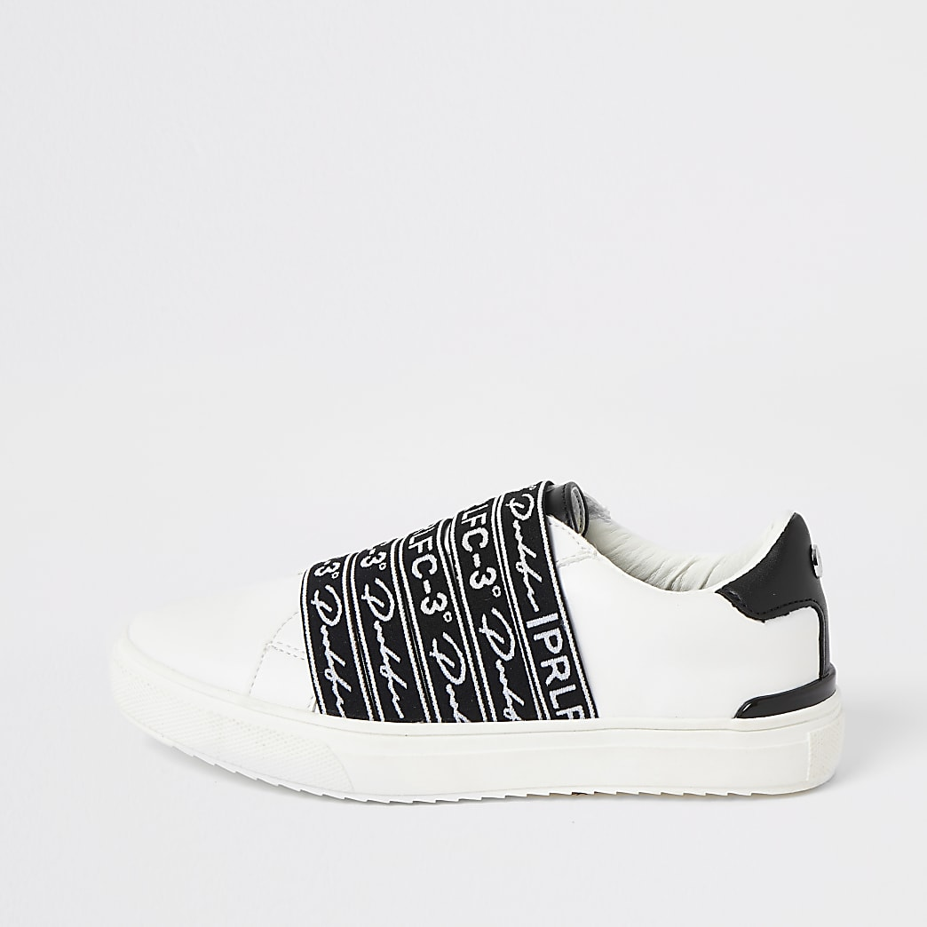 Boys Prolific white strap trainers