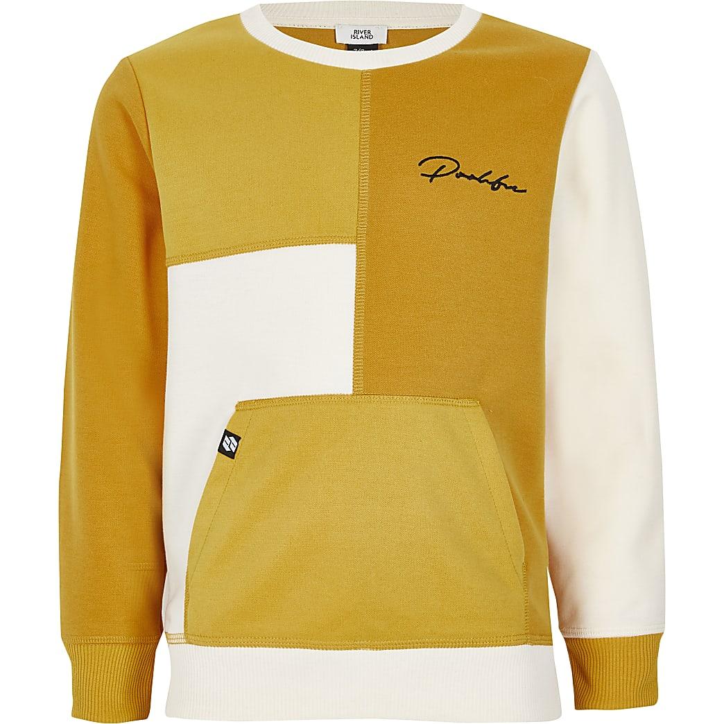 Boys Prolific yellow blocked sweatshirt