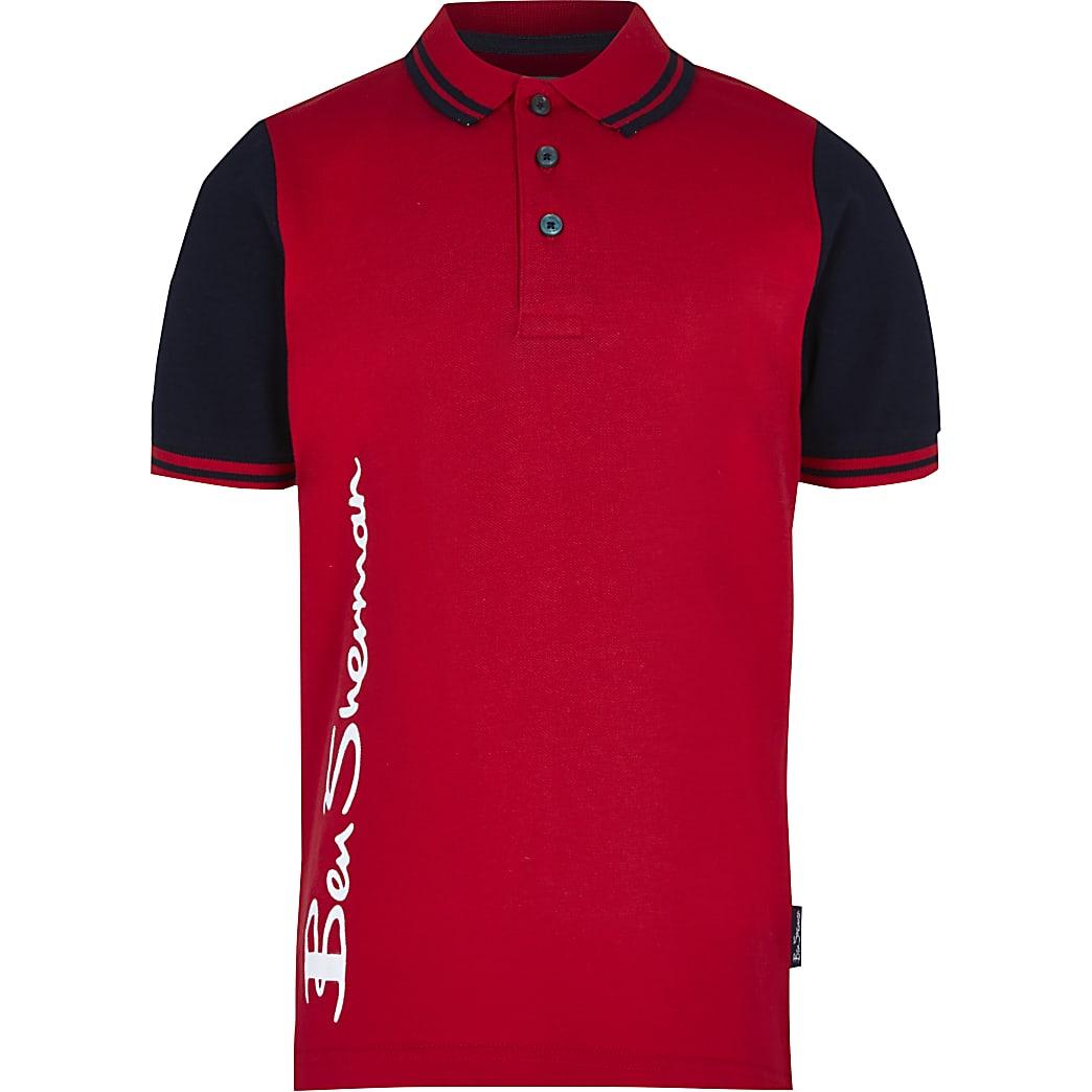 Boys red Ben Sherman polo shirt