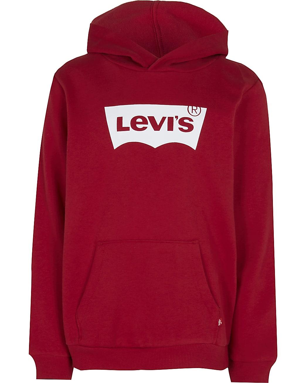 Boys red Levi's hoodie