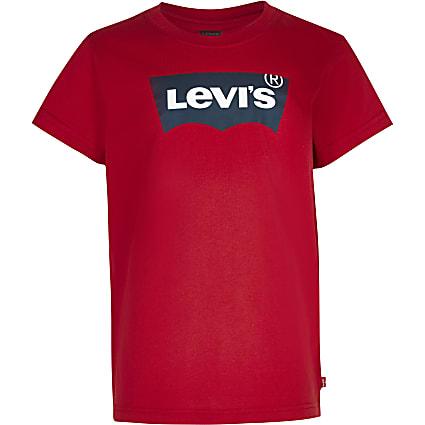 Boys red Levi's short sleeve t-shirt