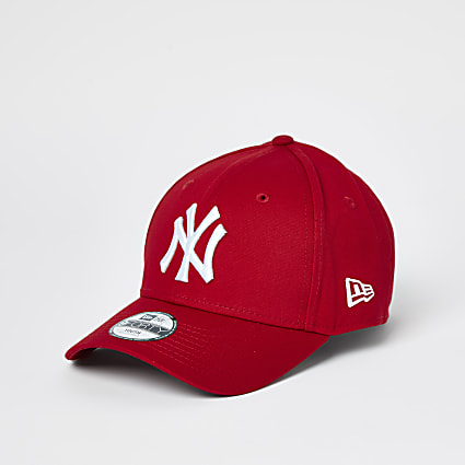 Boys red New Era NY cap