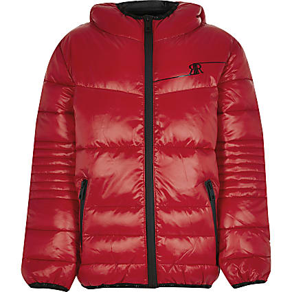 Boys red padded jacket