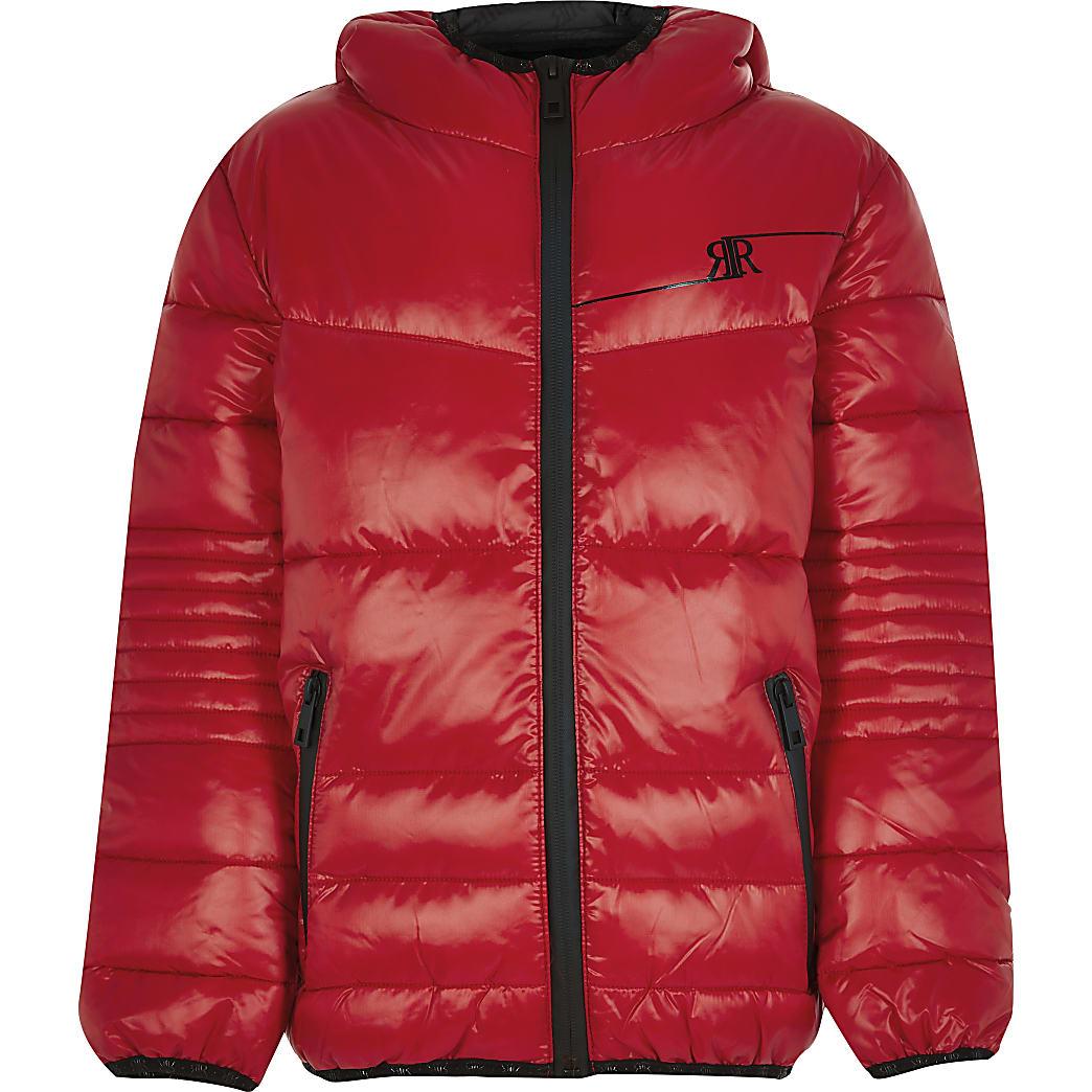 Boys red padded jacket