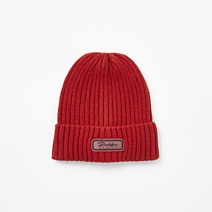 Boys red Prolific beanie hat