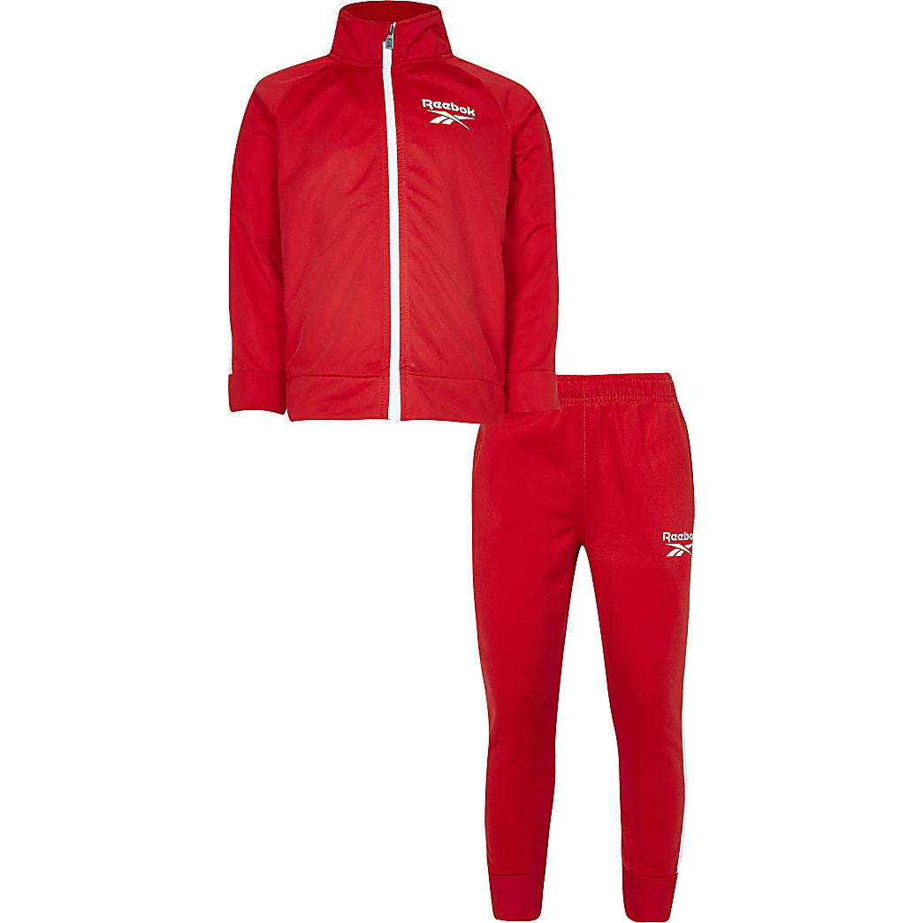 Boys red Reebok tracksuit outfit