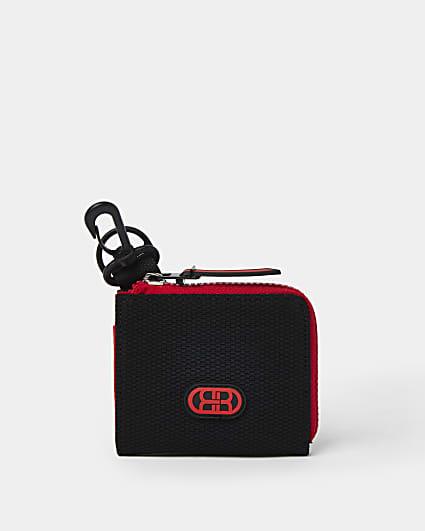 Boys red RI mesh zip around wallet