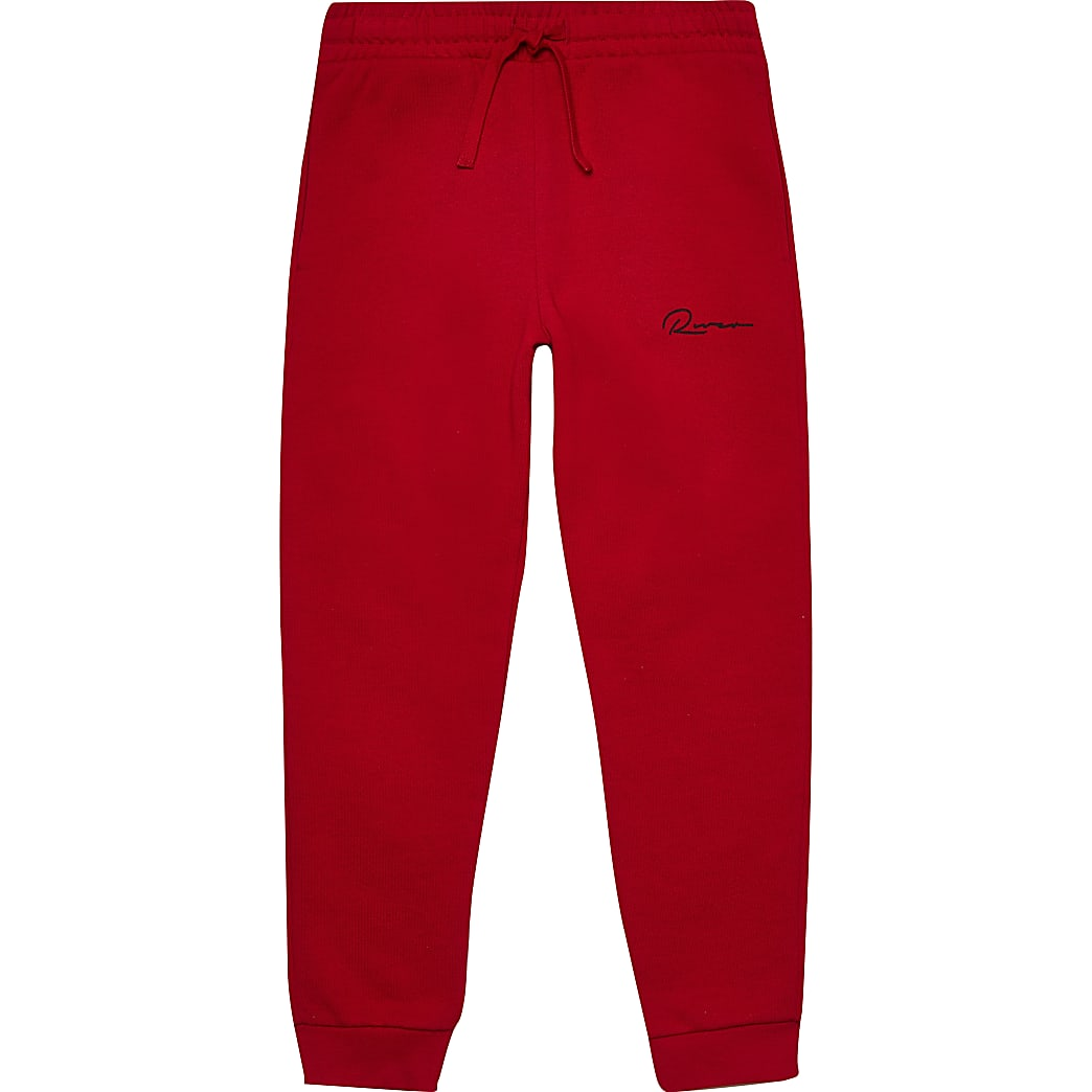 Boys red 'River' joggers