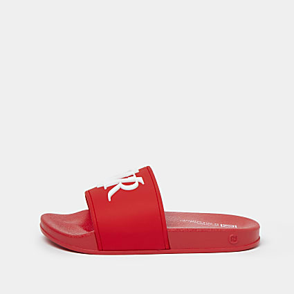 Boys red RVR sliders