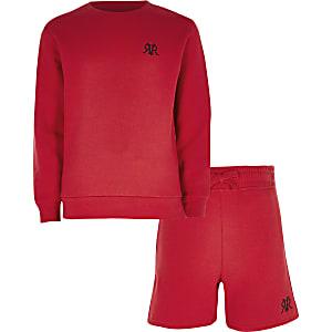 Rotes RVR-Sweatshirt-Outfit für Jungen