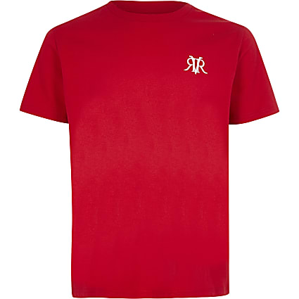 Boys red RVR T-shirt