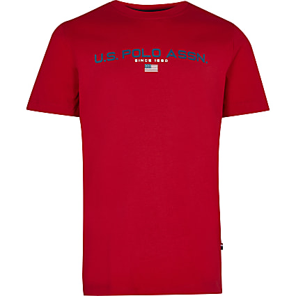Boys red USPA short sleeve t-shirt