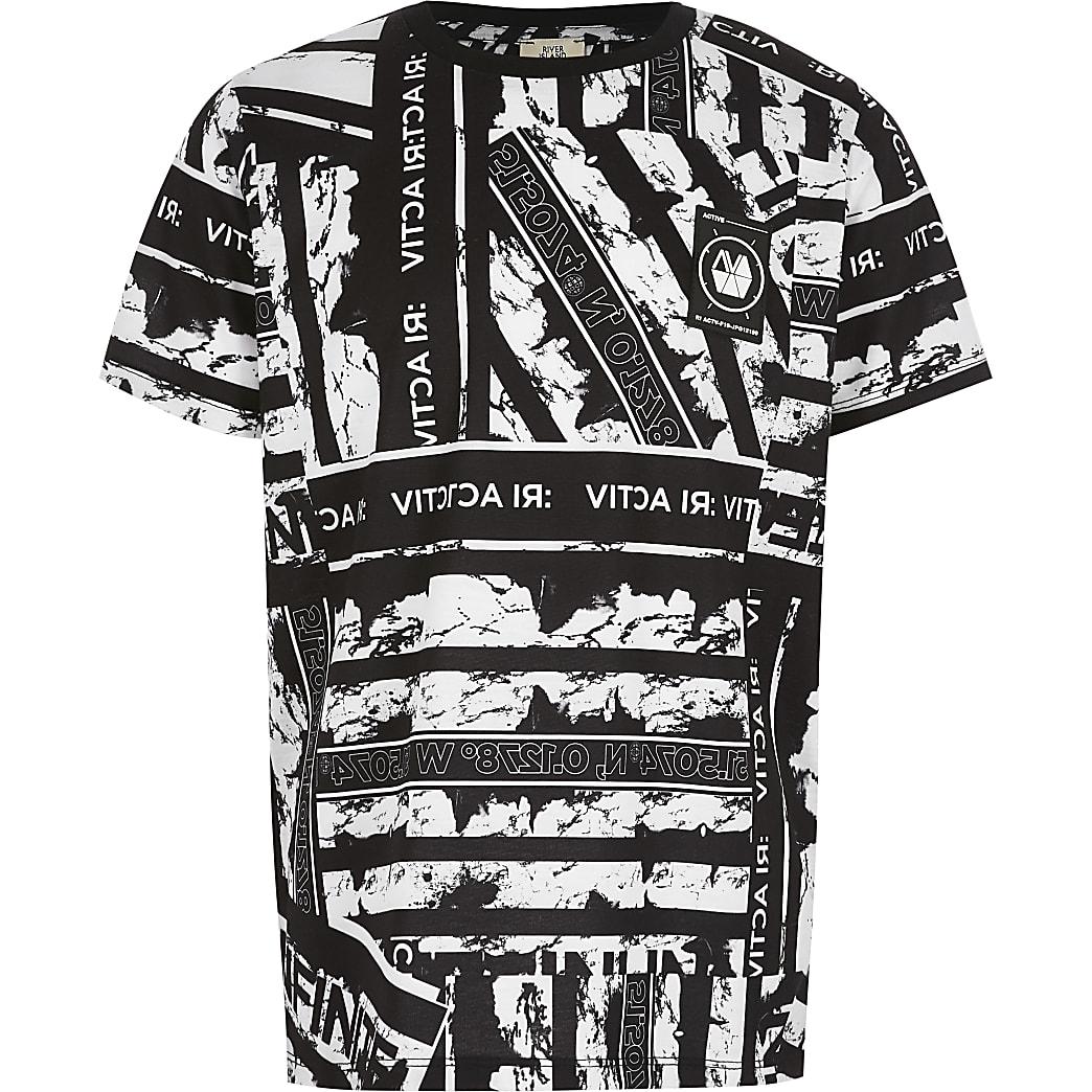 RI Active - Zwart T-shirt met print voor jongens