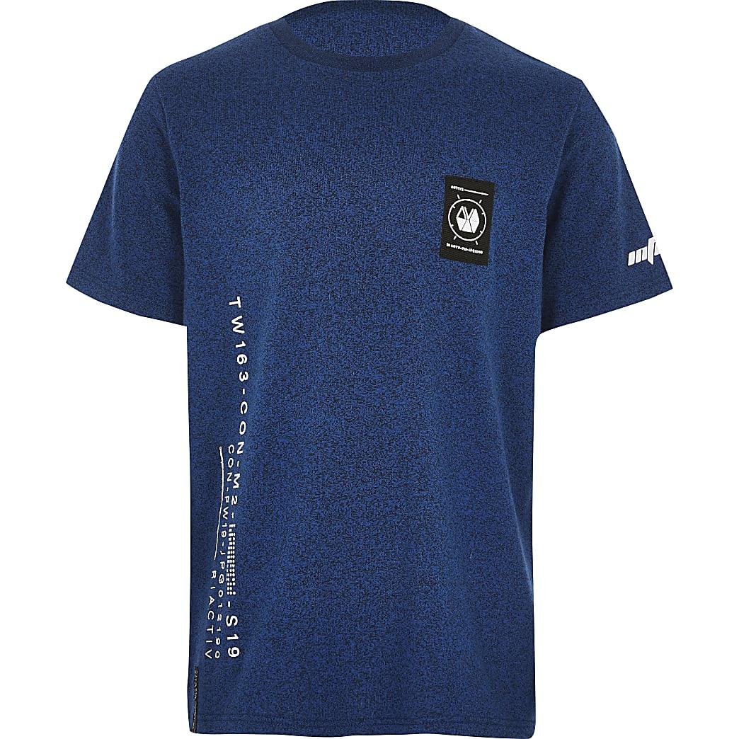 RI Active - Blauw T-shirt met print voor jongens