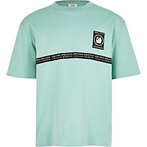RI Active - Muntkleurig oversized T-shirt met bies voor jongens