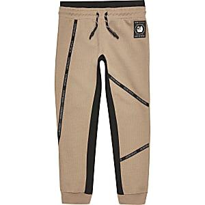 RI Active – Pantalon de jogging grège à bandes pour garçon