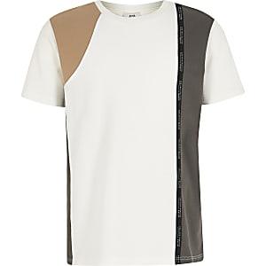 RI Active – Weißes T-Shirt in Blockfarben für Jungen