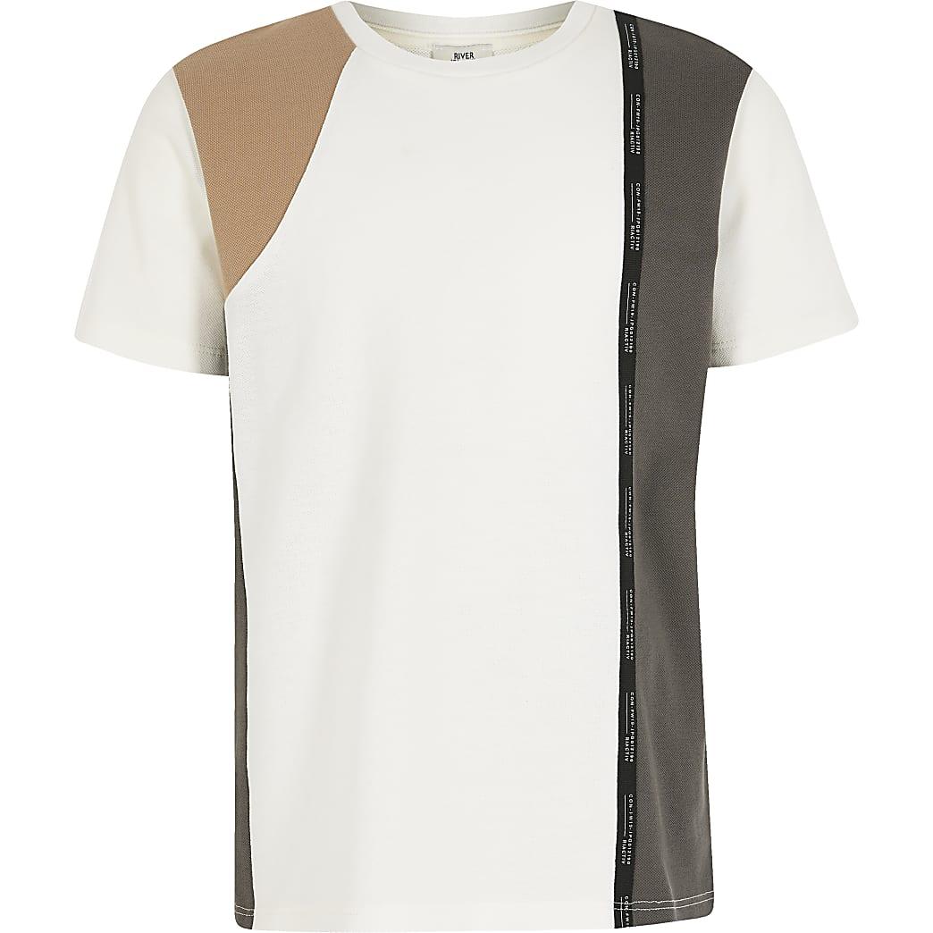 Boys RI Active white blocked tape T-shirt
