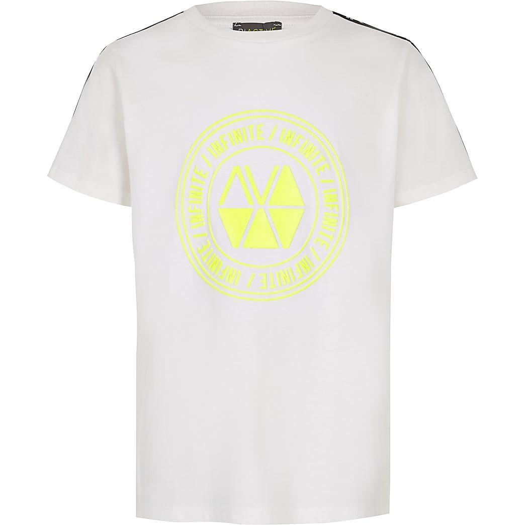 Boys RI Active white tape T-shirt