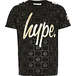 RI x Hype - Zwart T-shirt met reliëf voor jongens
