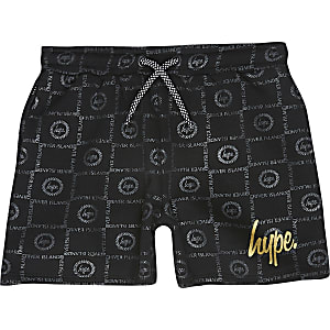 RI x Hype - Zwarte short met print voor jongens