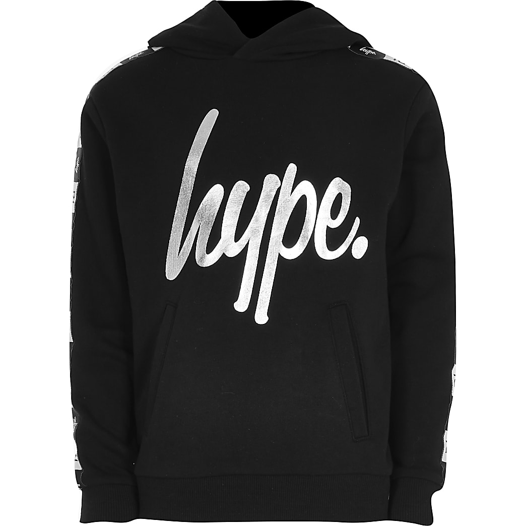 Boys RI x Hype black RI taped hoodie