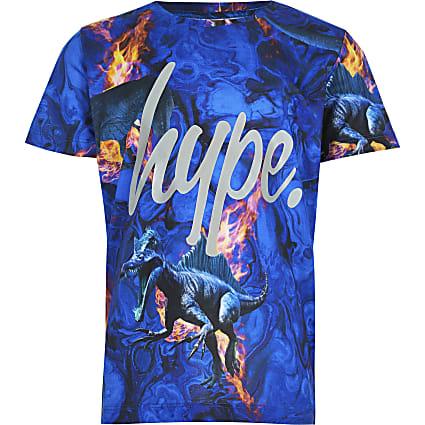 Boys RI x Hype blue dinosaur fire print