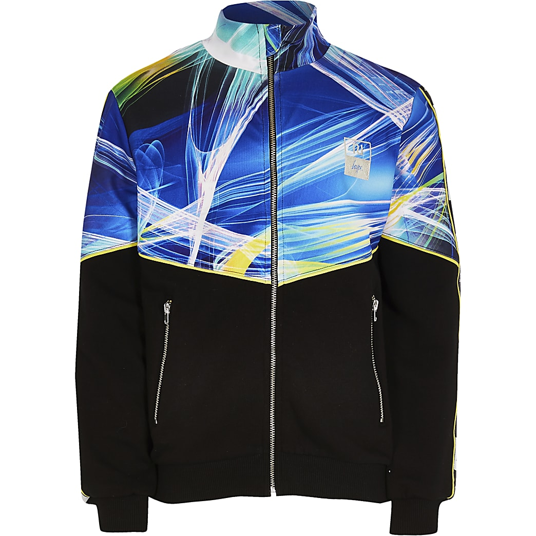 Boys RI x Hype blue lightning track top