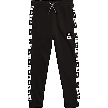 Boys RI x Hype boys black side tape joggers