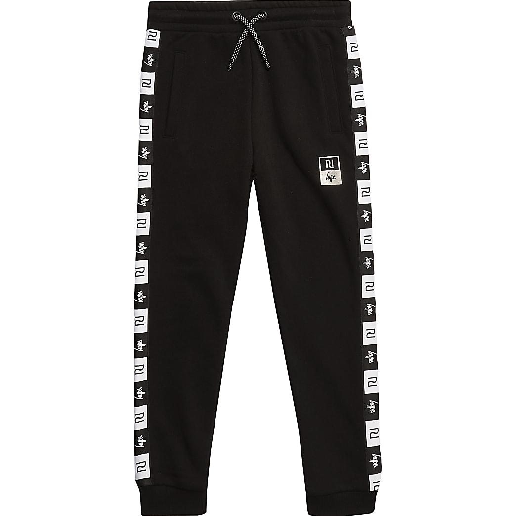 Boys RI x Hype boys black side tape joggers