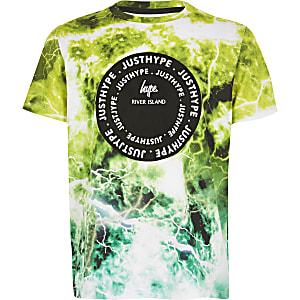 RI x Hype – Bedrucktes T-Shirt in Grün