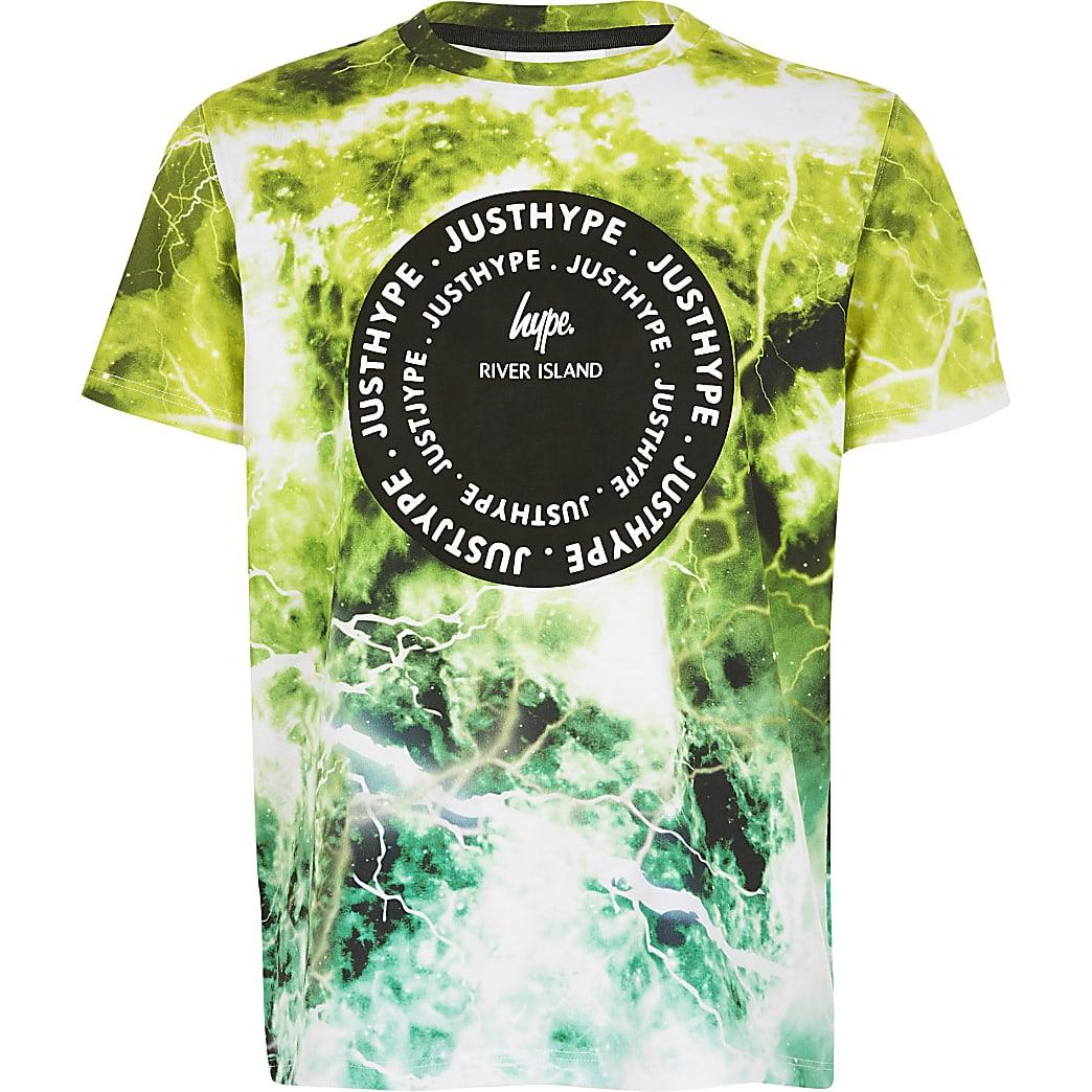 Boys RI x Hype green printed T-shirt