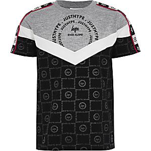 RI x Hype – Graues T-Shirt in Blockfarben