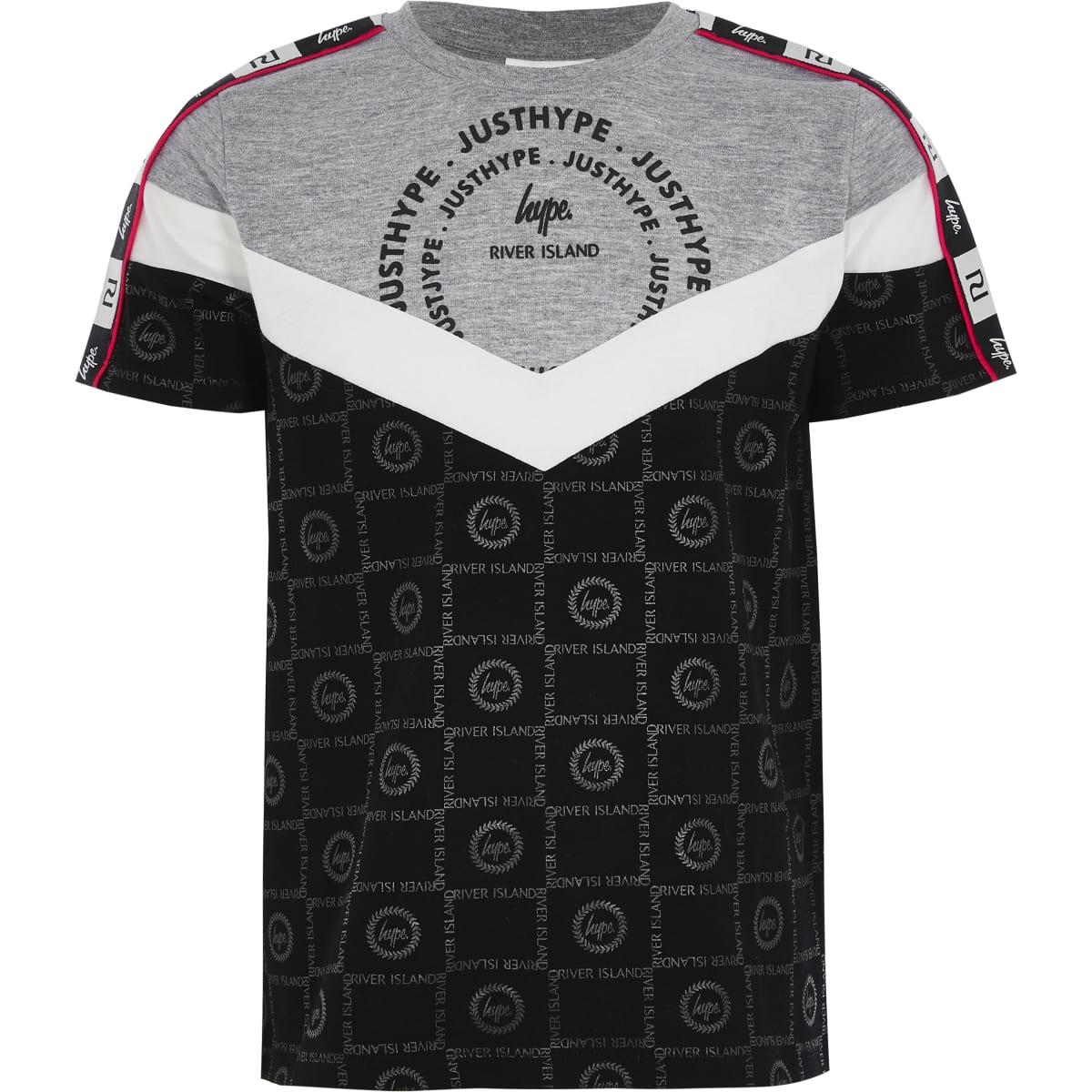 Boys RI x Hype grey blocked T-shirt