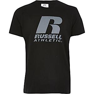 Russell Athletic - Zwart T-shirt voor jongens