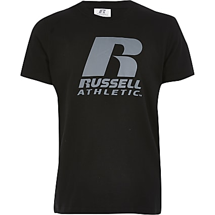 Boys Russell Athletic black T-shirt